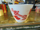 RARE!  VINTAGE FIRE KING SMALL MIXING BOWL w/ Kitchen Gagets