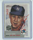 2002 TOPPS HERITAGE RED AUTOGRAPH WHITEY FORD #30 53 NEW YORK YANKEES