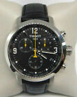 TISSOT PRC 200 CHRONOGRAPH BLACK DIAL BLACK LEATHER WATCH T0554171605700