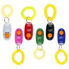 Dog Pets Click Clicker Training Obedience Agility Trainer Aid Wrist Strap White