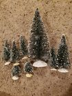 ASSORTED LEMAX CHRISTMAS VILLAGE SNOW COVERED EVERGREEN TREES
