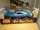 Route 66 1969 Dodge Charger 500 1 18th die cast Blue with White Stripe Black Int
