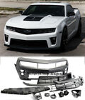 ZL1 Style Front Bumper For 10 13 Camaro with Upper Lower Grille  Fog Lights