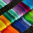 Lot 100 Cotton Cross Floss Stitch Thread Embroidery Sewing Skeins Multi-Colors