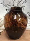 Vintage Hand Blown Glass Tortoise Shell Vase