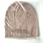 TJD The Jetset Diaries Cable Knit Beanie Winter Hat One Size Dusty Pink New