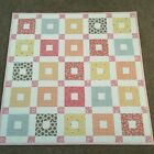 Handmade Baby or Toddler Quilt Pink 1930s print
