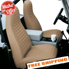 Bestop 29227 04 Front High Back Seat Covers for 76 91 Jeep CJ5 CJ7 Wrangler YJ