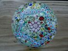 FRATELLI TOSO Murano Art Glass 1852 Cane Millefiori STAR Mottled Paperweight