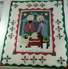 Nativity Quilt XMAS Wall Hanging Mary Christ Patchwork Applique Hand Stitched