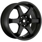 4 Focal 421B X 16x7 4x100 4x45 +42mm Satin Black Wheels Rims 16 Inch