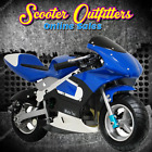 MotoTec Gas Pocket Bike fun with Scooters Mopeds ATVs Dirt Bikes NEW SEE VIDEO