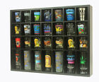 28 Shot Glass Display Case Rack Wall Shelves Shadow Box Holder Cabinet SC11 BL