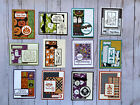 12 Halloween geeting cards envelopes Stampin Up +more