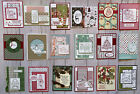 18 Christmas Holiday Winter geeting cards envelopes Stampin Up +more