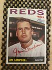 2012 Topps Heritage Real One RED INK ON CARD AUTO JIM CAMPBELL 49 64