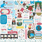 1 12x12 Sheet Echo Park Paper ALICE IN WONDERLAND 2 Scrapbook Element Stickers