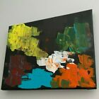 Abstract painting on canvas diversity of color texture modern acrylic