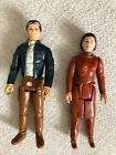 2 Vintage Star Wars Han Solo  Leia Bespin Action figure 1980 ESB kenner