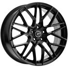 4 Platinum 459BK Retribution 18x8 5x45 +40mm Gloss Black Wheels Rims 18 Inch