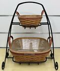 Longaberger Silver Bells and Tinsel Baskets 2005, Wrought Iron Holiday Stand