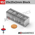 N52 Super Strong Rare Earth Neodymium Magnet Block Thin Square 1mm 2mm 5mm Thick