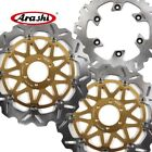 For DUCATI GT TOURING 1000 2009 Floating Front Rear Brake Disc Rotors