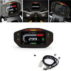 Motorcycle Digital Speedometer Odometer 6 Gear MPH KM H Scooter Moped Universal