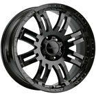4 Vision 375 Warrior 16x8 6x45 +12mm Gloss Black Wheels Rims 16 Inch