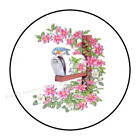 30 FLOWER MAILBOX ENVELOPE SEALS LABELS STICKERS PARTY FAVORS 15 ROUND