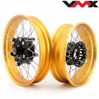 VMX 3.0*19''/4.5*17 Tubeless Wheels For BMW R1200GS Adventure 2013-2020 Gold Rim