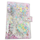 Cute Sequins Notebook Cover A5 A6 6 Holes File Holder Loose Leaf Ring Binder