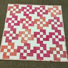 Handmade Baby or Toddler Quilt Batik Pinks and Coral