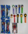 LOT OF 14 PEZ DISPENSERS NEW AND PREOWNED BATMAN / PIRATES OF THE CARIBBEAN ...