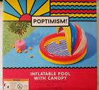 Poptimism Kiddie Pool with Removable Canopy Inflatable Baby Shallow 59x54 Age 3+