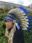 Exeter Chiefs Rugby Indian Headdress Chief Real Feathers Bonnet Native American