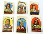 VINTAGE DECAL Native American Indian Bird Rattle Chief Nez Perce + More6RARE