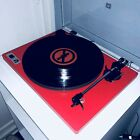U Turn Orbit Red Basic Turntable Record Player Built In Amp Comes With Aux