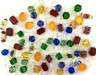 55 Pieces Large Blown Glass Candy Ornaments Murano Style 3 inch Assorted