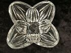 Crystal Glass Flower Petal Serving Candy Dish Bowl 975W x 5H Modern Heavy
