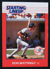 1988 Starting Lineup Set Break Don Mattingly New York Yankees Baseball Card NM