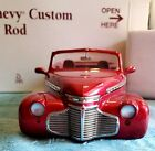 1941 Chevy Custom Rod Danbury Mint Cherry Red Die Cast 124 Collector Quality