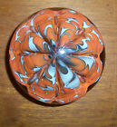 ST CLAIR PAPERWEIGHT ORANGE WHITE CRIMPED 325 BY 2