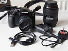 Olympus E-510 with 14-42mm zoom lens and 40-140mm telezoom lens