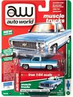 Auto World 1 64 1973 Chevy Cheyenne Fleetside Muscle Trucks Light Blue