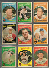1959 Topps Baseball Lot 2 of 72 Cards, Poor to Vg