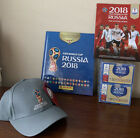PANINI 2018 FIFA WORLD CUP RUSSIA HARD COVER ALBUM + 2 BOXES +Cap +Official Book
