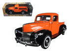 1940 FORD PICKUP TRUCK ORANGE 1 18 DIECAST MODEL CAR BY MOTORMAX 73170