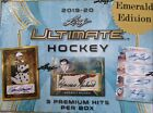 2019-20 LEAF ULTIMATE HOCKEY FACTORY SEALED HOBBY BOX Emerald Edition - FREE S H