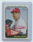 2014 TOPPS HERITAGE RED AUTOGRAPH MICHAEL WACHA #17 65 ST. LOUIS CARDINALS